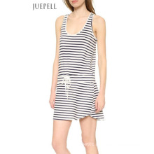 China Fábrica Casual Stripe Cotton Dress