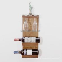 Porta Decorativa em Vidro para Vinho