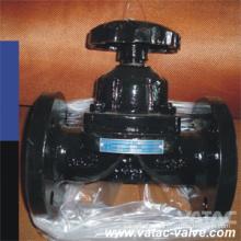 Wehr Typ Gusseisen / Ci / C. I Gg25 & A126 B Flansch-RF-Membranventil
