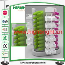 Soporte de exhibición giratorio de acrílico del supermercado para la almohada inflable
