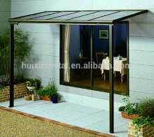 PC solid sheet Aluminium frame Awnings /balcony rain awnings make in China L-- Style