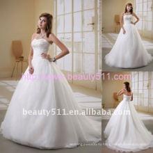 Astergarden без бретелек бисероплетение органзы свадебное платье AS040