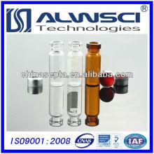 2ml botella de reactivo químico de cristal de tapa de crimpado 11mm autosampler vial suit for Agilent