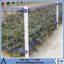 Profesional doble lazo de alambre soldado valla / PVC recubierto doble círculo cerca