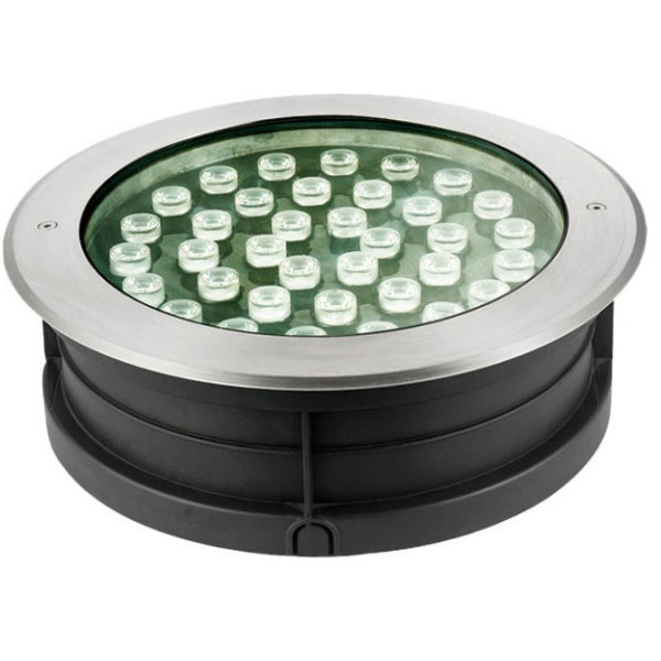 Black Round Shape 36W LED Inground Light