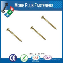 Made in Taiwan Not China Products Carbon Steel Brass Stainless Steel Countersunk Head Screws Flat Head Torx Wood Screw