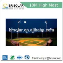 Éclairage élevé mât léger élevé d'inondation de sodium de haute pression solaire avec le réverbère mené solaire