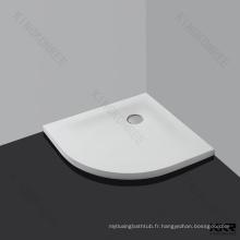 Receveur de douche en composite solide en résine blanche