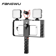 Handheld Smartphone Video Cage Rig Kits Mount Stand With Double Handle For Cell Smart Phone
