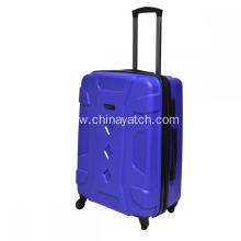 Unbreakable durable blue PP luggage set