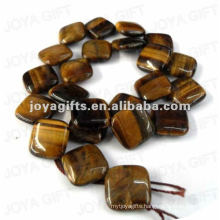 Square Shaped tigereye stone beads