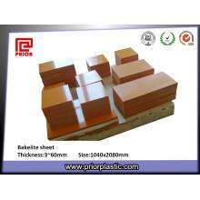 Tablero de papel fenólico con espesor de 3-50 mm