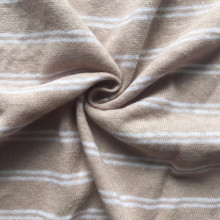 Hot-selling attractive for linen cotton stripe fabric Khaki white stripe linen fashion shirt  jersey supply to Luxembourg Manufacturer
