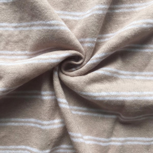 Khaki white stripe linen fashion shirt  jersey