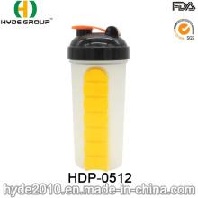 Botella de agitador de proteína recién de plástico 600ml (HDP-0512)