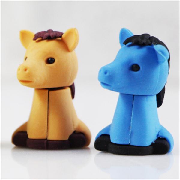 Пользовательские школа питания лошади резиновый Ластик