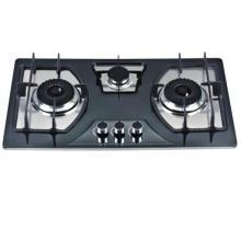 Cuisinière à gaz de haute qualité de 3 brûleurs / plaque de gaz de verre trempé