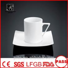 P&T porcelain factory ceramics coffee set, square coffee cups, custom design