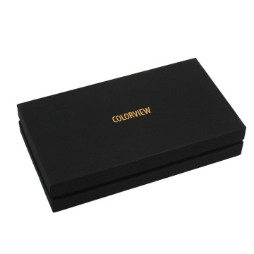 Black Card Rigid Gift Box with Lid