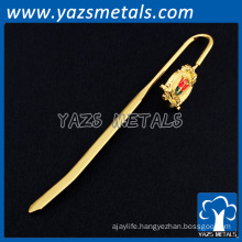 Promotional gifts and crafts brass custom metal plated bookmark