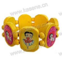 Heißes Verkaufs-Art- und Weisefrauen hölzernes Armband mit Drucken Bild