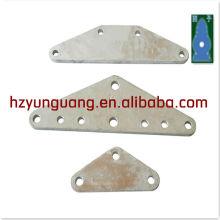 línea de alambre de tipo de alimentación de montaje en caliente de acero de zinc tipo L de tipo triángulo placa de yugo línea de transmisión eléctrica hardware de la torre