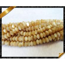 La joyería lisa de los granos del filamento de Shell de la fregona de Rondelle 4 * 6m m (APS031)
