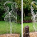 2018 высокое качество украшения сада провода нержавеющей стали скульптуры