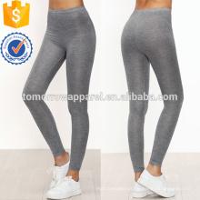 Cinza Skinny Casual Leggings OEM / ODM Fabricação Atacado Moda Feminina Vestuário (TA7030L)