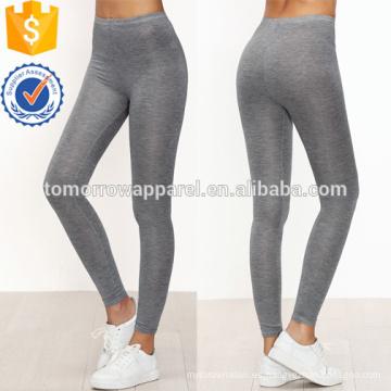 Grey Flaco Casual Leggings OEM / ODM Fabricación al por mayor Moda Mujeres Ropa (TA7030L)