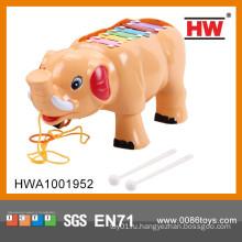 Прекрасный мультяшный пластмассовый носорог с легким & музыкальным ксилофоном ребенка