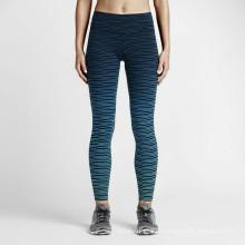Frauen-Polyester-Spandex-Farben-bequeme einzigartige Yoga-Hosen