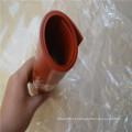 Folha de borracha de silicone de alta temperatura de cor vermelha