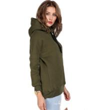 Осенняя зима женщин повседневная куртка толстый теплый пуловер толстовки
