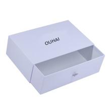 CMYK sliding art paper hardcover packaging custom shoe box with logo