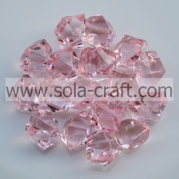 Colorful Clear Acrylic Small Stone Beads For Decoration