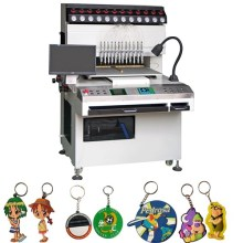 12 Colors Soft Rubber PVC Keychain Automatic Dispensing Machine
