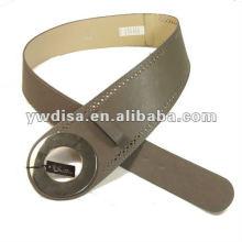 Correa de la PU de las mujeres con la PU, accesorios de la aleación con el rodio plateado