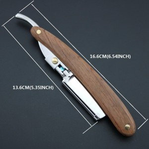 Wooden Handle Polish Men's Straight Shaving Razor