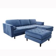 Conjunto moderno de sofá de canto de tecido Sven