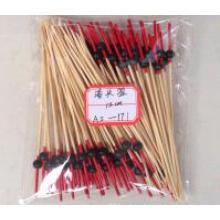 Whosale BBQ Teal/Cyan/Indigo Gun-Shaped Bamboo Sticks&Skewers