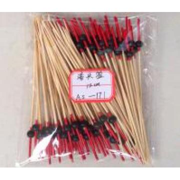 Whosale BBQ Teal / Cyan / Indigo en forma de arma de bambú palos y brochetas