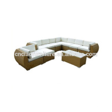 Grupo exterior luxuoso modular da conversação do sofá do Rattan