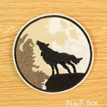 Étiquette tissée broderie vêtements espace patch badges rayures