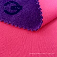 China Hersteller 100% Polyester Interlock gebundenes polares Fleece-Bekleidungsgewebe