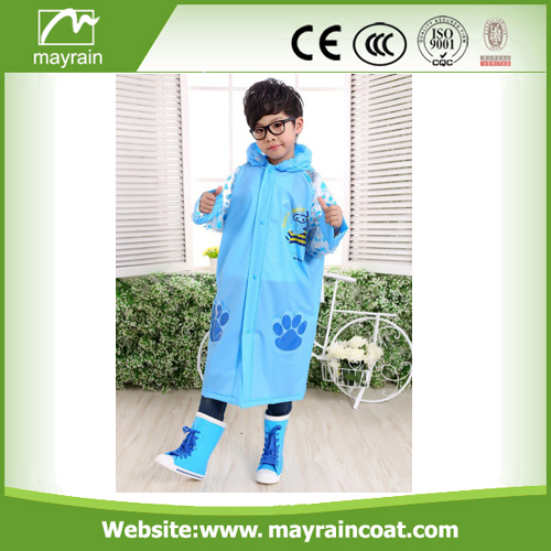 Long Raincoat Children Rainsuit