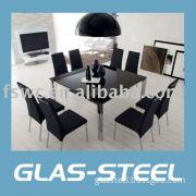 Modern Glass Square Dining Set