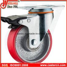 PU en la rueda giratoria total del tirón del hierro