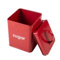 Food Storage Metal Tin Can Kitchen Box Bin