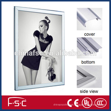Display light led snap open aluminum slim light box frame